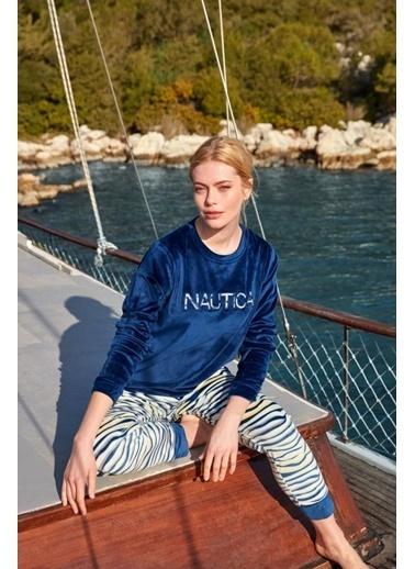 Nautica Ntw042 Pijama Takım Lacivert